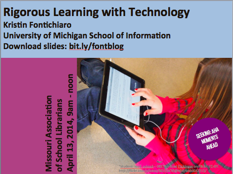 "Title slide for ""Rigorous Learning with Technology"" Workshop"