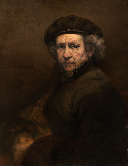 Self portrait of Rembrandt van Rijn 1659 from Google Art Project via Wikimedia